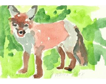 Fox. Watercolour study.