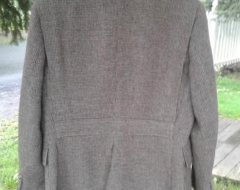 Vintage Tweed Belt Backed Suit Jacket