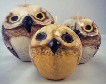 Swazi Owl Candle - Fair trade Handmade Candle from Swaziland