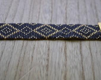 miyuki bead weaving bracelet