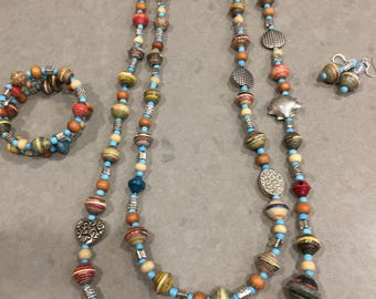Necklace, Earrings and Bracelet Set