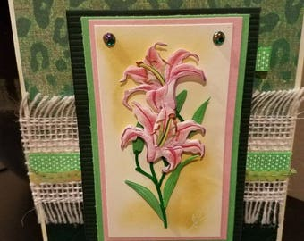 Handmade etno card.Luxury card.Design card.Vintage handmade