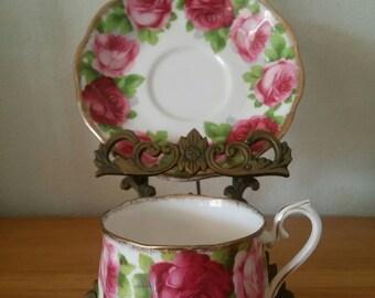 Royal Albert Bone China English Old English Rose Cup & Saucer