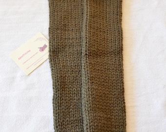 Socks carrying baby, Khaki, wool, handmade