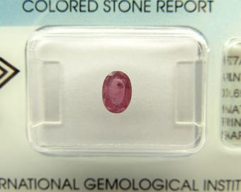 0.69 ct with IGI certificate natural Pink Sapphire