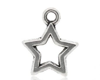 Star jewelry x 5 metal, 12 x 12 mm