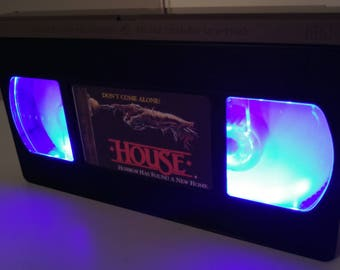 Retro Lightbox VHS House mountable or table lamp