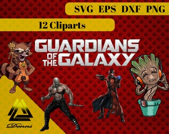 Guardians of the Galaxy – 12 (Svg, Eps, Png, Dxf, Ai, Jpg Files) – 300 PPI, Vectorial Images,Guardians of the Galaxy Printable Active Photos