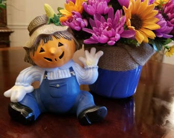Scarecrow Harvest Pot