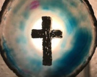 Easter Cross agate nightlights FREE SHIPPING !
