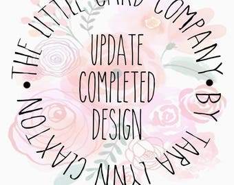 Update Completed Design Package [Add-on]