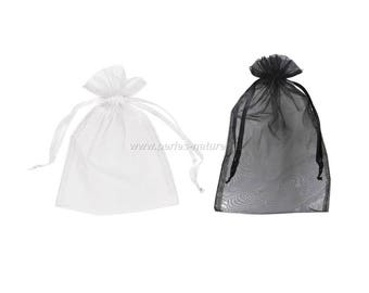 Organza - 13x16cm - black or white
