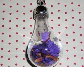 Sea Lavender bulb necklace