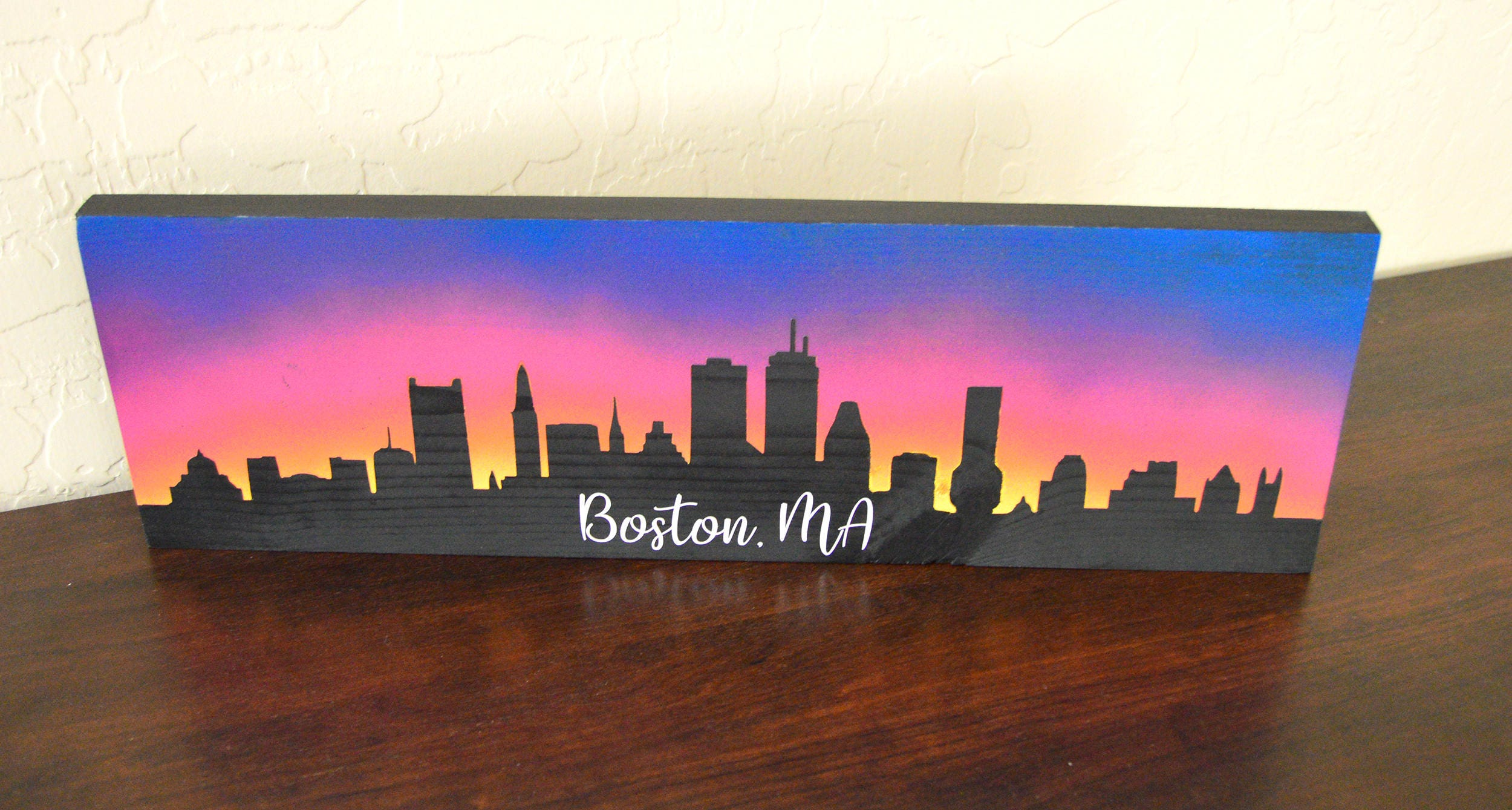 Boston Skyline Wood Sign - Boston Wall Art & Boston Skyline Wood Sign - Boston Wall Art [E10231018401176643M ...
