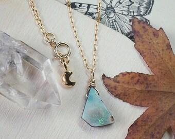 Opal doublet pendant in 14k goldfill