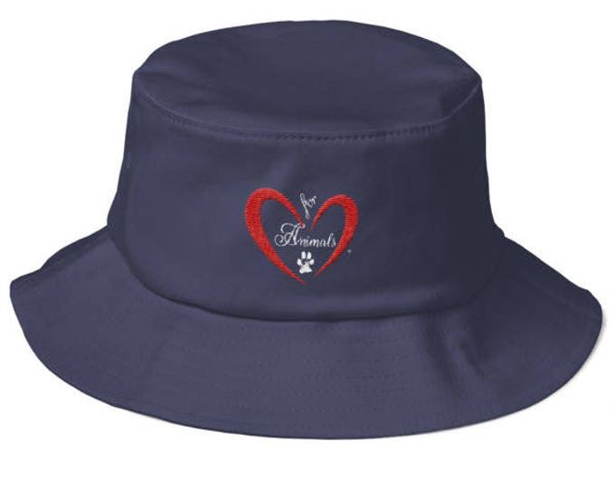 Heart of Love for Animals - Old School Bucket Hat