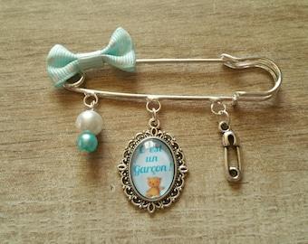 Baby boy blue decorative pin