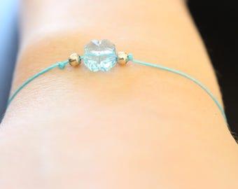 Bracelet knot slider with Swarovski flower