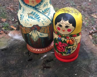 Authentic vintage Russian nesting dolls