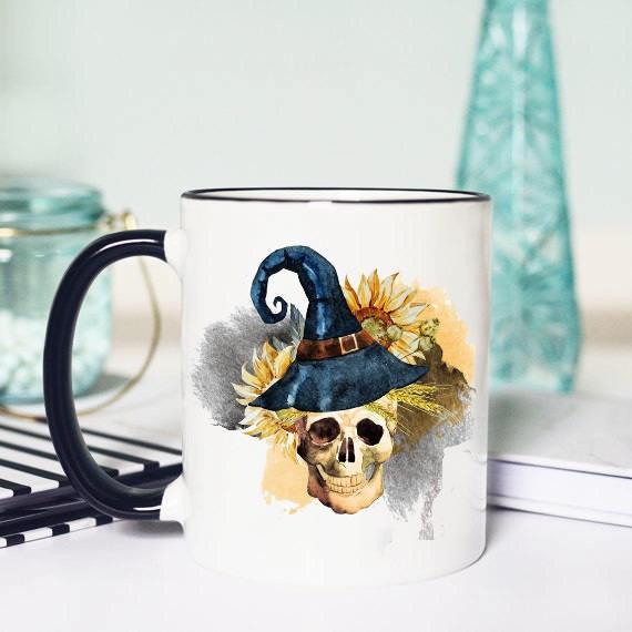 Skull Halloween Coffee Mugcute Giftsgift For Friendskull Cupskull