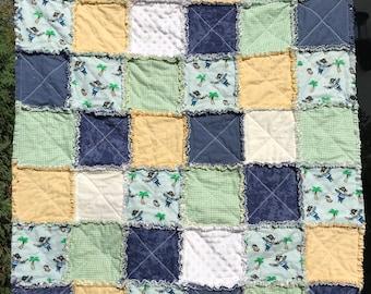 Boy Rag Quilt, Pirate Design