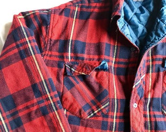 Vintage plaid flannel jacket