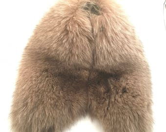 Recycled fur collar