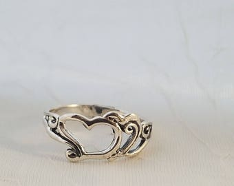 925 Heart Shape Silver Ring