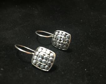 Sterling silver dot earrings