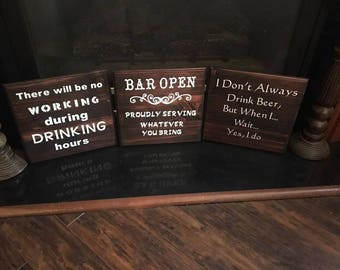 Drinking Signs