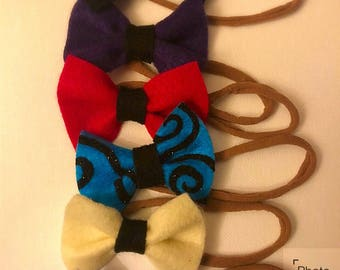 6 felt bow bundle