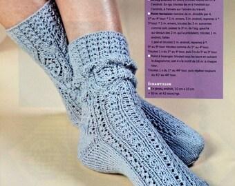 Tutorial pretty socks knitting pattern