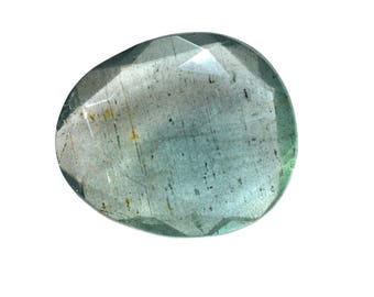 Aquamarine Natural Moss Aqua Both Side Faceted Rose Cut Polki For Designer Jewelry Making - 4028
