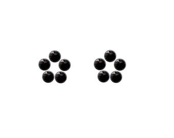 Black Spinel Round Rose Cut Faceted Cabochon 3x3, 4x4, 5x5, 6x6 mm 100% Natural/Non-Heated/Non-Treated Gemstones For Designer Jewelry