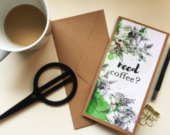 Need coffee? Folding Card DinLang * Coffee