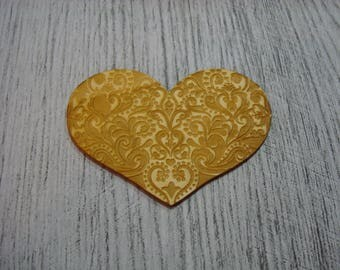 Heart embellishment for your creations wooden 1536