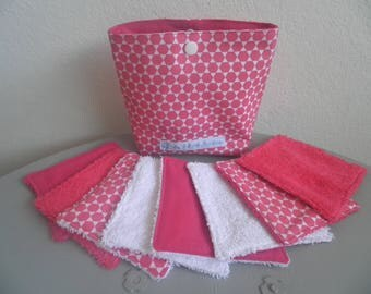 """8 """"Hexagon"""" washable wipes pouch"""