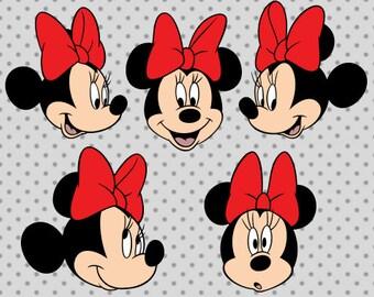 Minnie SVG, Minnie head svg, Disney svg, Minnie Disney svg, Mickey disney svg, Bow svg, Minnie clipart, Minnie cricut, Disney cricut