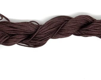 22 shamballa Brown nylon thread
