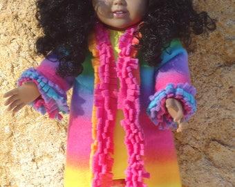 "Fleece Coat & Hat set for 18"" Doll"