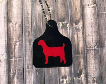 Goat ear tag - Show goat - Boer Goat - Livestock - Ear tag goat - Show wether - Show doe - Show buck
