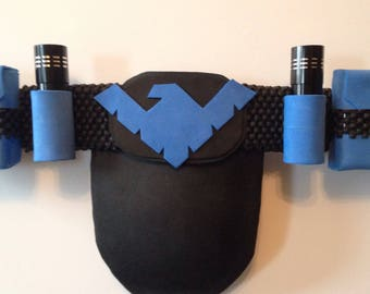 Nightwing inspired belt for cosplay or just for show.