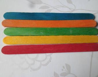 x 20 mixed sticks wooden 5 different 11.3 x 1 cm