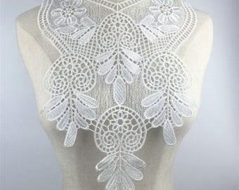 x 1 lace collar applique coloured floral sewing 35 x 53.5 cm @20