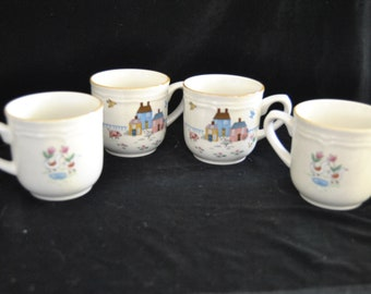 Cups in the Heartland Pattern from International Stoneware, Set of 4