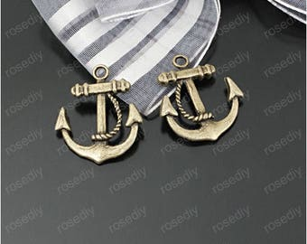 5 charms bronze 20 * 23 MM anchor D23316