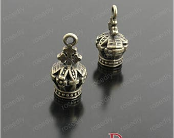 10 charms in bronze 26 * 14MM D26245 Imperial Crown