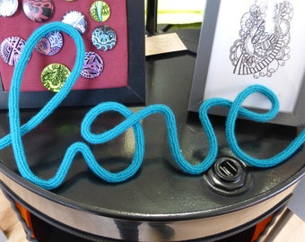 Love - message in knitting