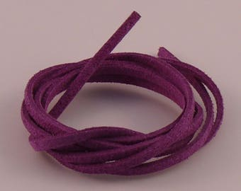 Purple 3mm suede cord x 1.5 mm