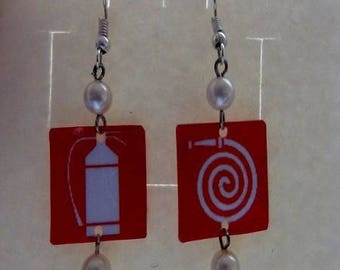 """Earrings signal """"fire extinguisher"""""""